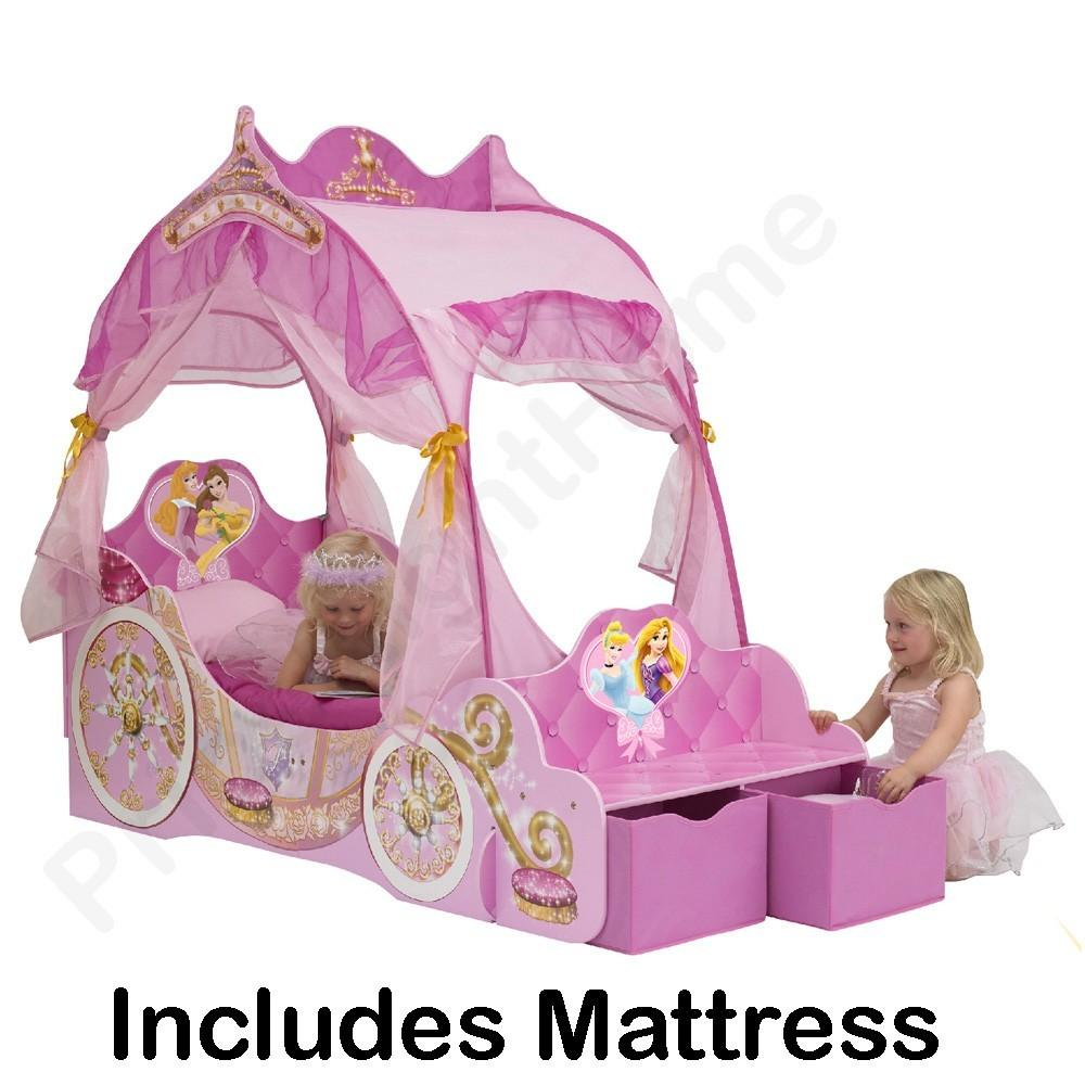 Disney Princess Carriage Toddler Bed Deluxe Mattress