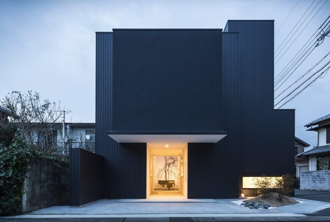 Distinct Black White Exterior Showcased Minimalist