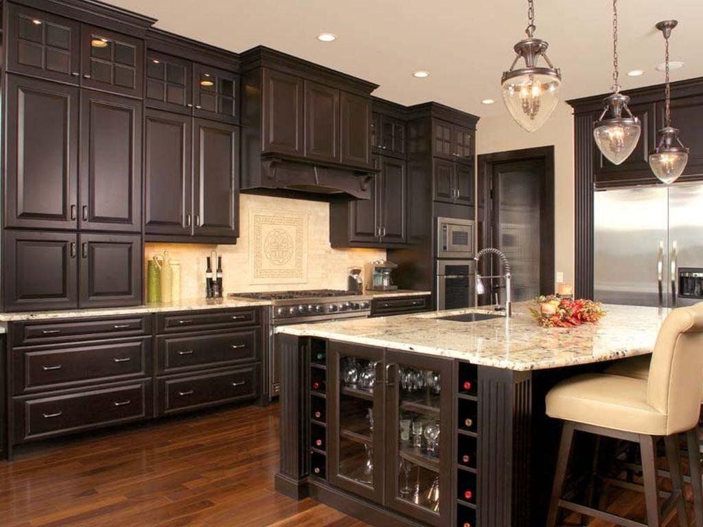 Distressed Kitchen Cabinets Furniture Black New Home