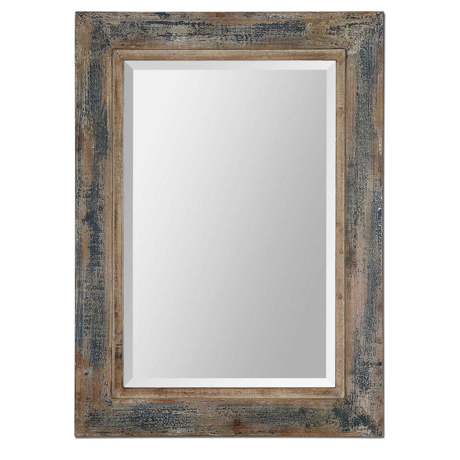 Distressed Tinted Plank Mirror Shades Light