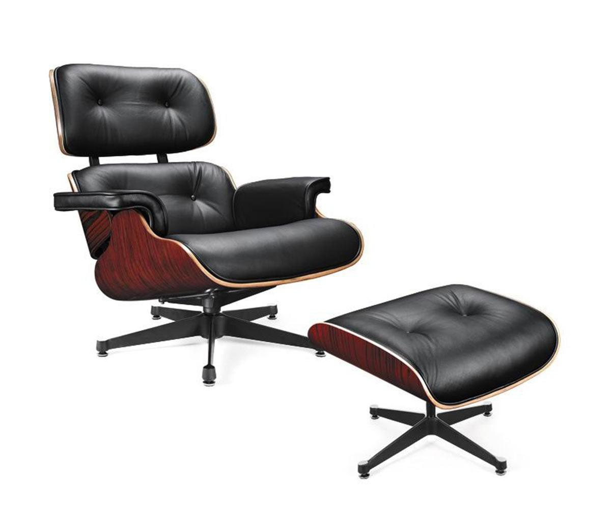 Divani Casa Moser Modern Black Leather Lounge Chair