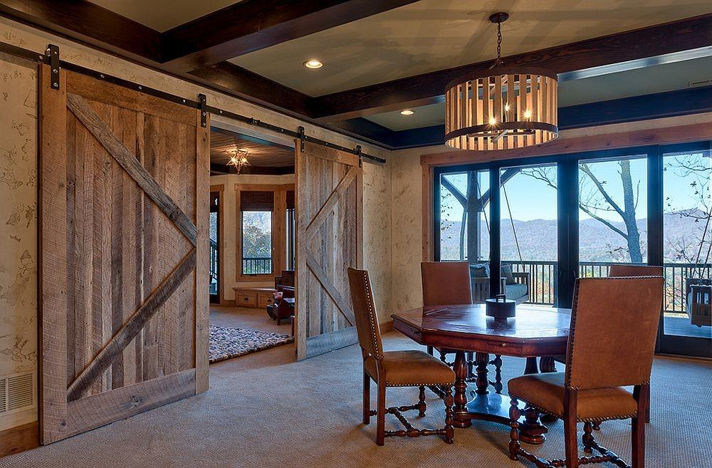 Diverse Dining Rooms Sliding Barn Doors