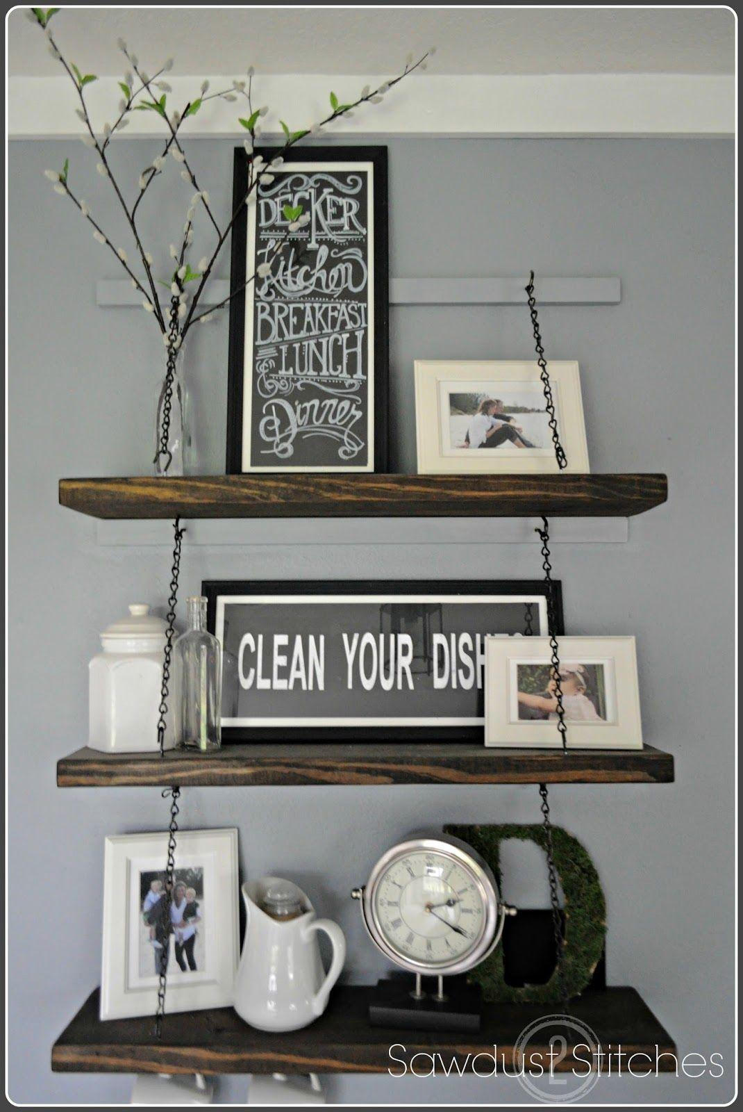 Diverse Diy Suspended Shelves Add Flavor Your Cor