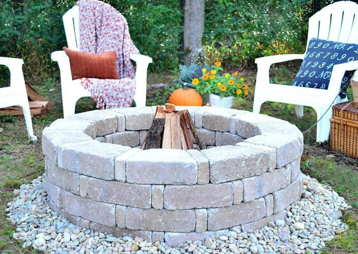 Diverting Inspiration Backyard Fire Pit Designs Large