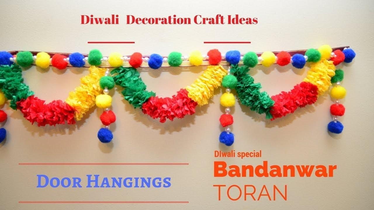 Diwali Decoration Pom Toran Craft Ideas
