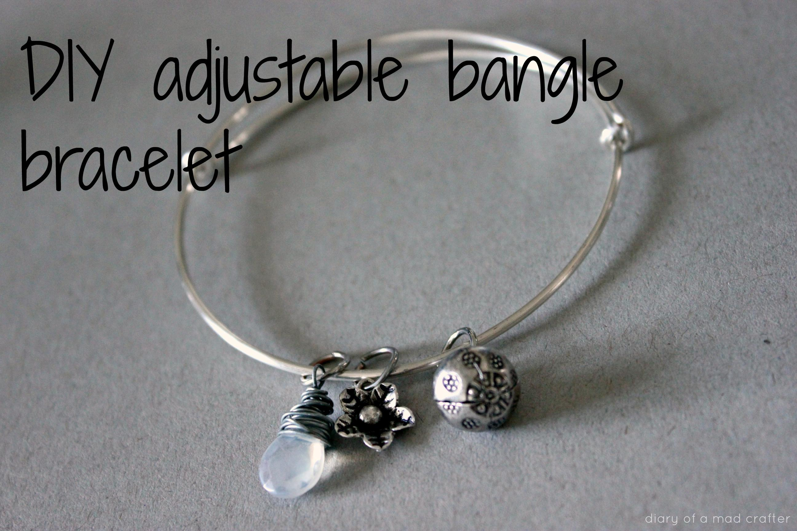 Diy Adjustable Bangle Bracelet Diary Mad Crafter
