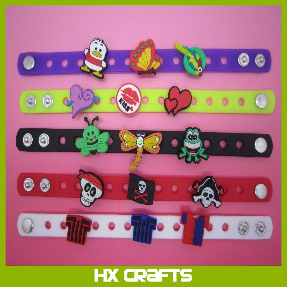 Diy Adjustable Wristband Bracelet Fit Croc Shoe Charms