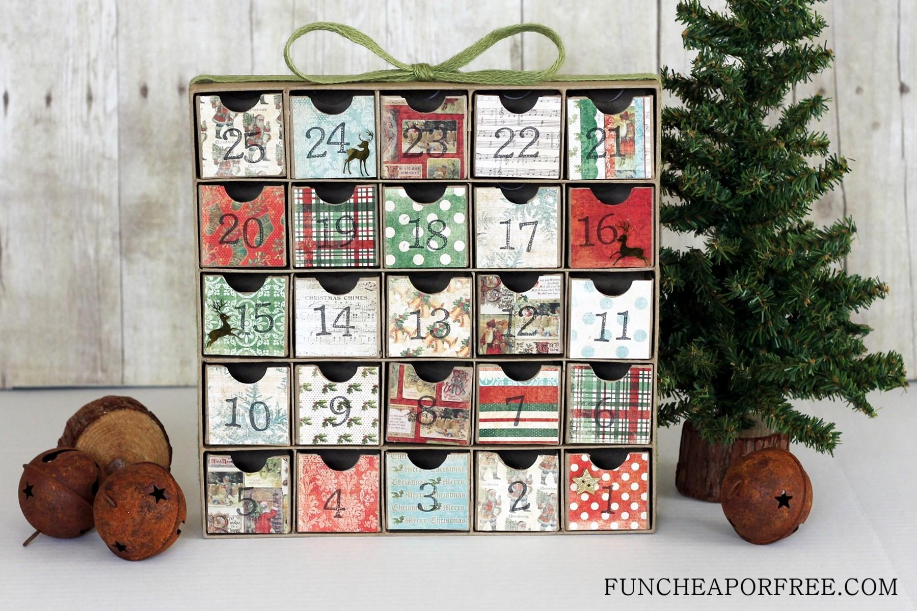 Diy Advent Calendar All Need Scrapbook Paper