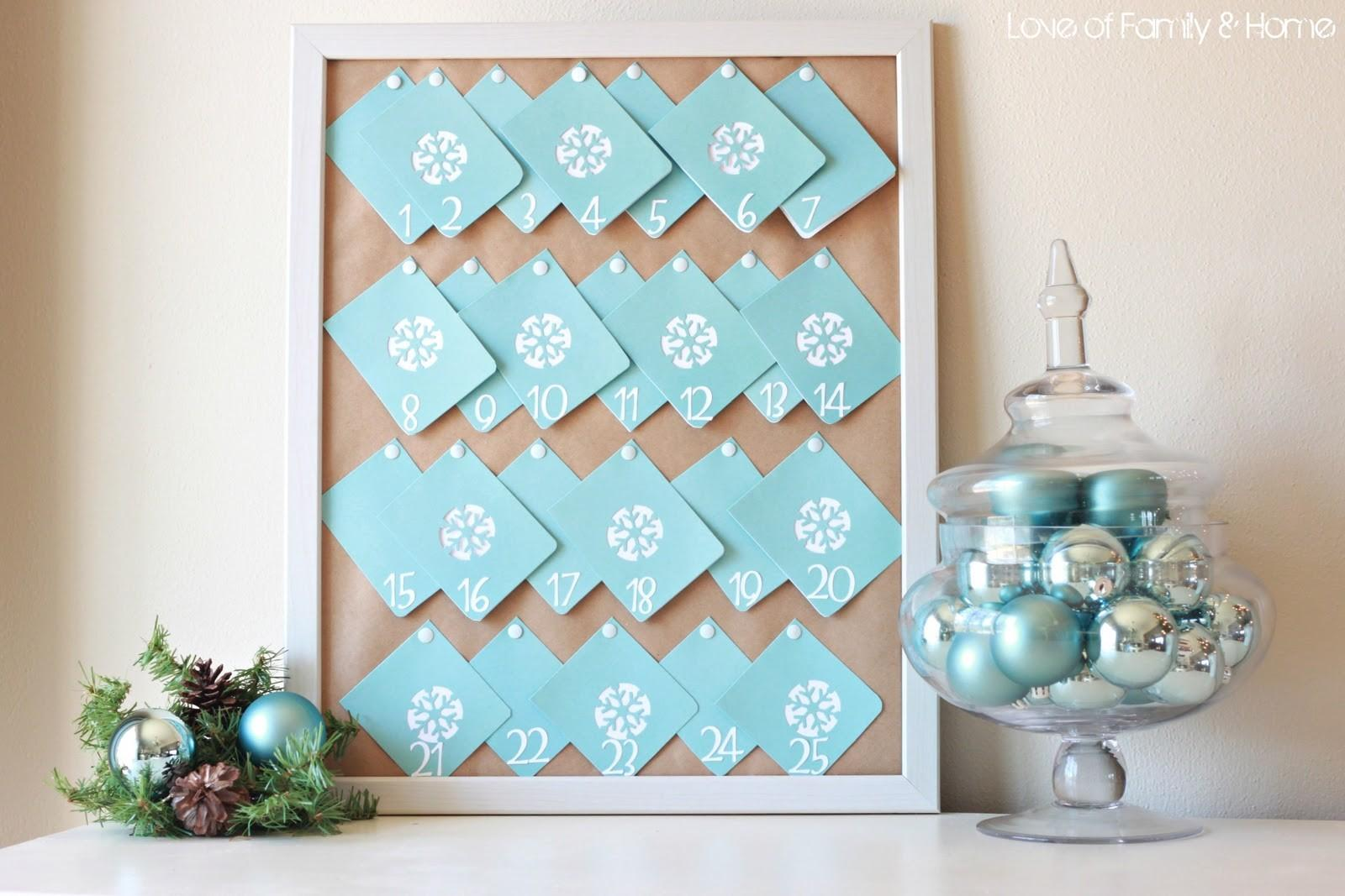 Diy Advent Calendar Love Family Home
