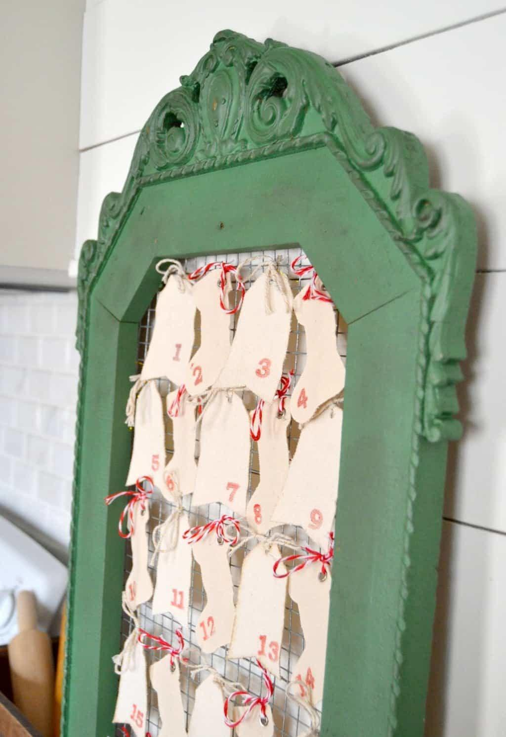 Diy Advent Calendar Made Curbside Frame Creative