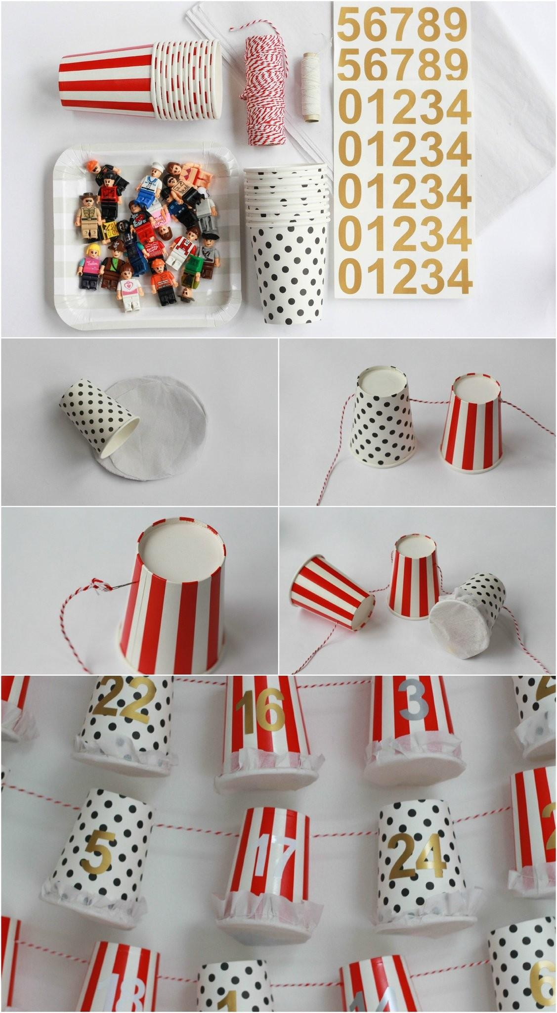 Diy Advent Calendar Tutorial Paper Cup Pretty