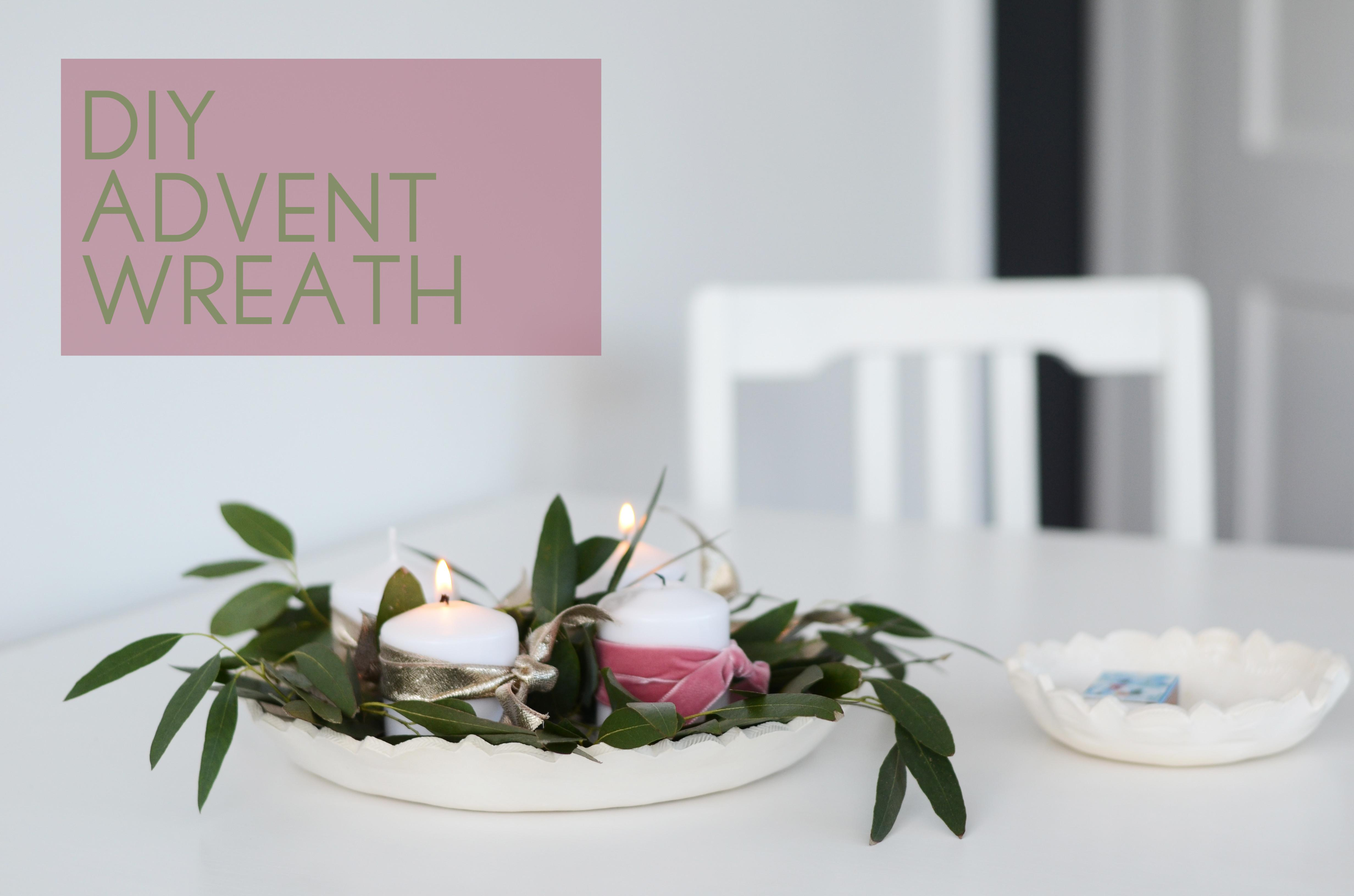 Diy Advent Candle Wreath