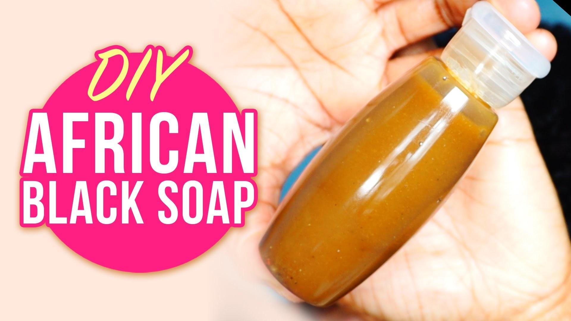Diy African Black Liquid Soap Natural Shampoo Body