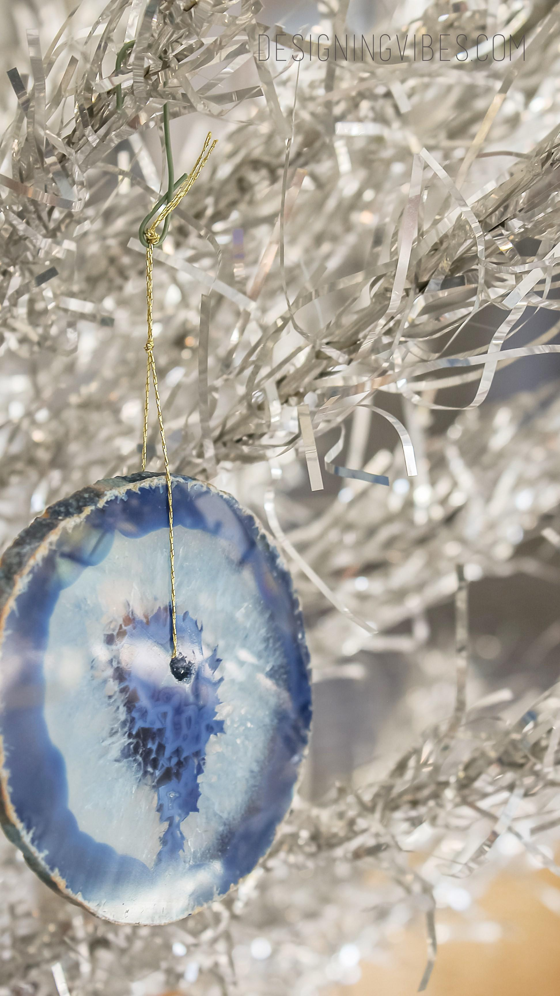 Diy Agate Crystal Christmas Ornament Crafts