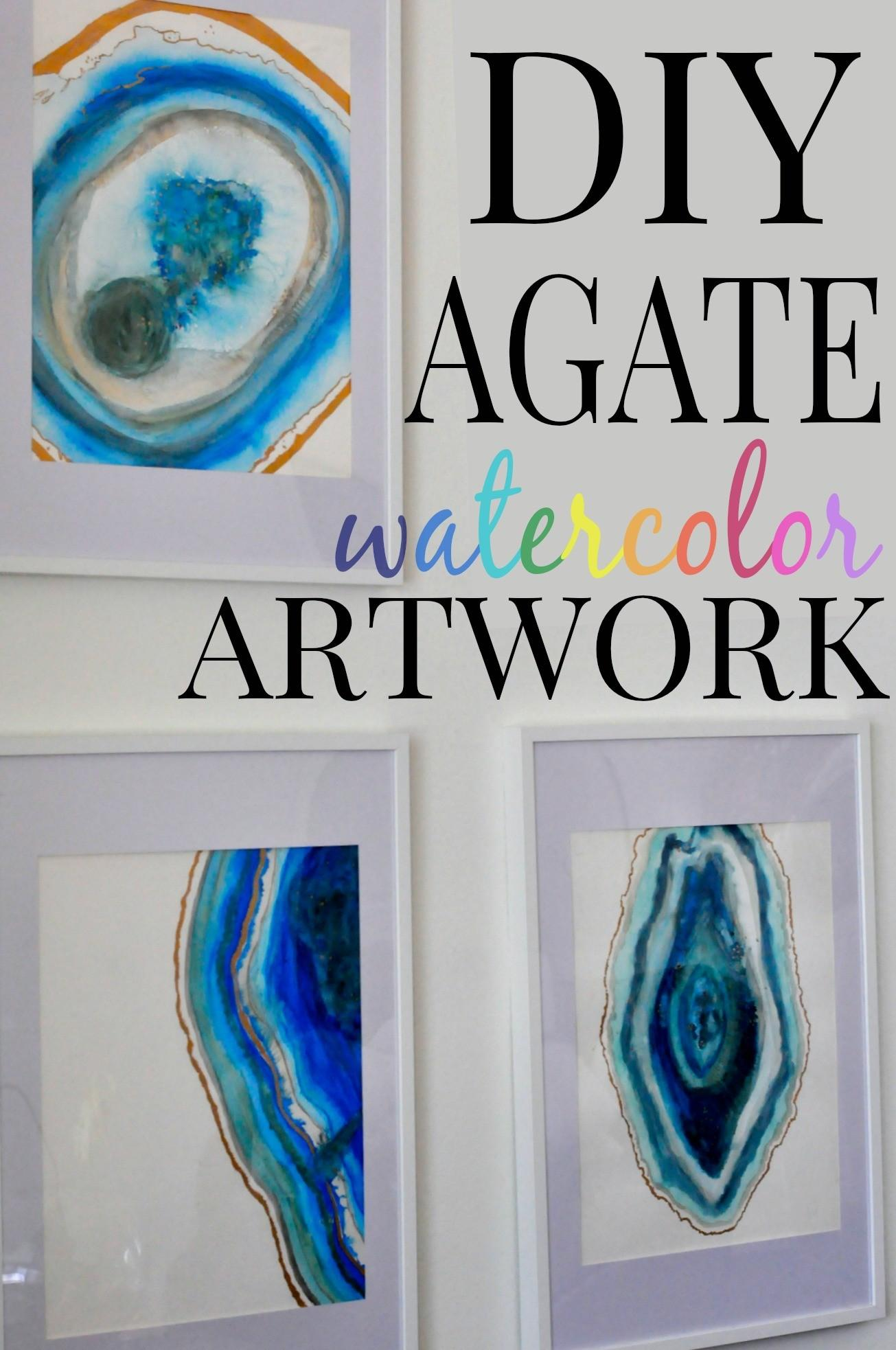 Diy Agate Watercolor Artwork First Home Love Life