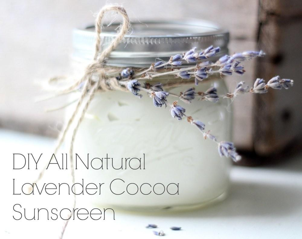 Diy All Natural Lavender Cocoa Sunscreen Farmhouse Boone