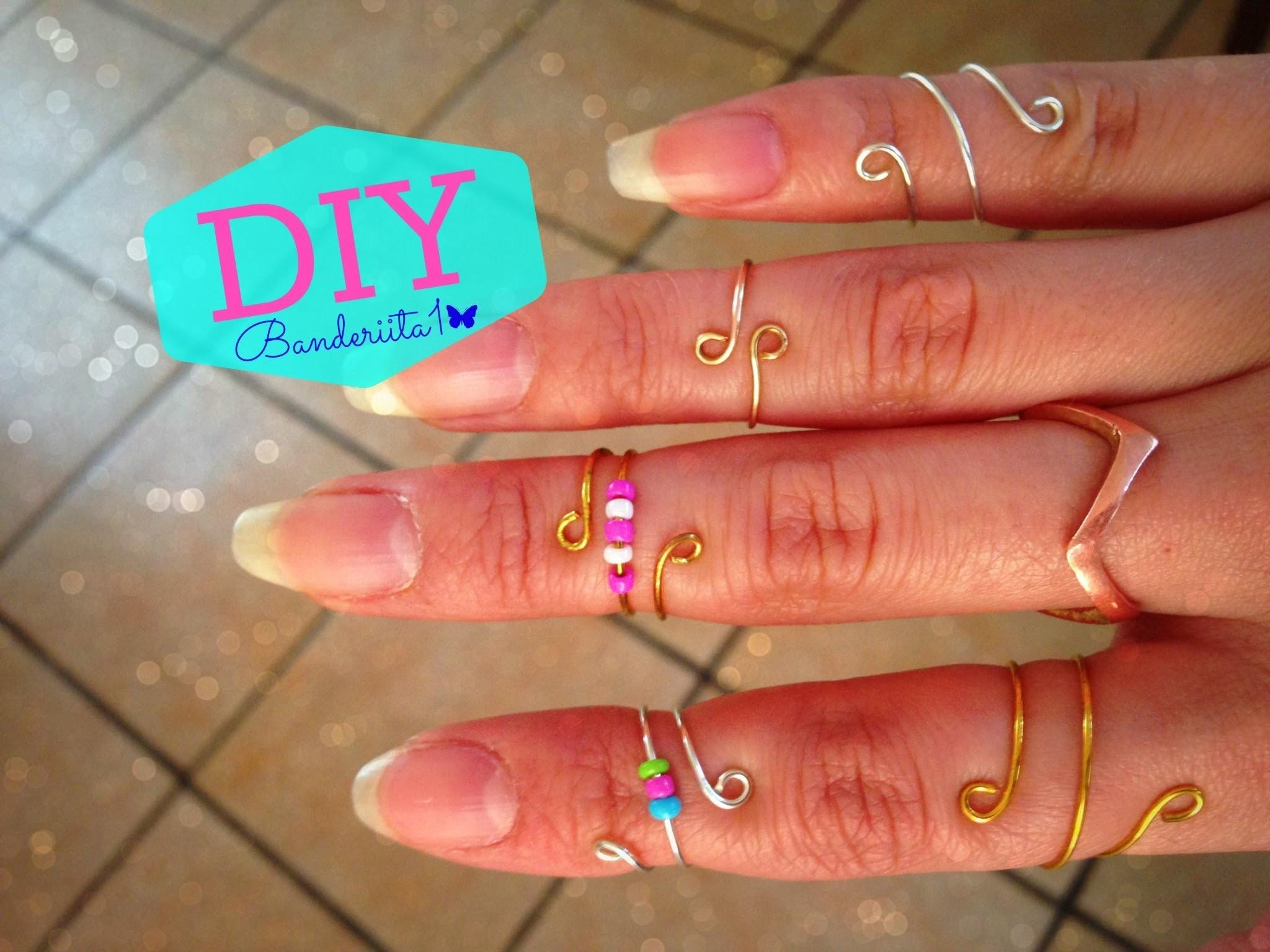Diy Anillos Originales Wire Rings Tutorial
