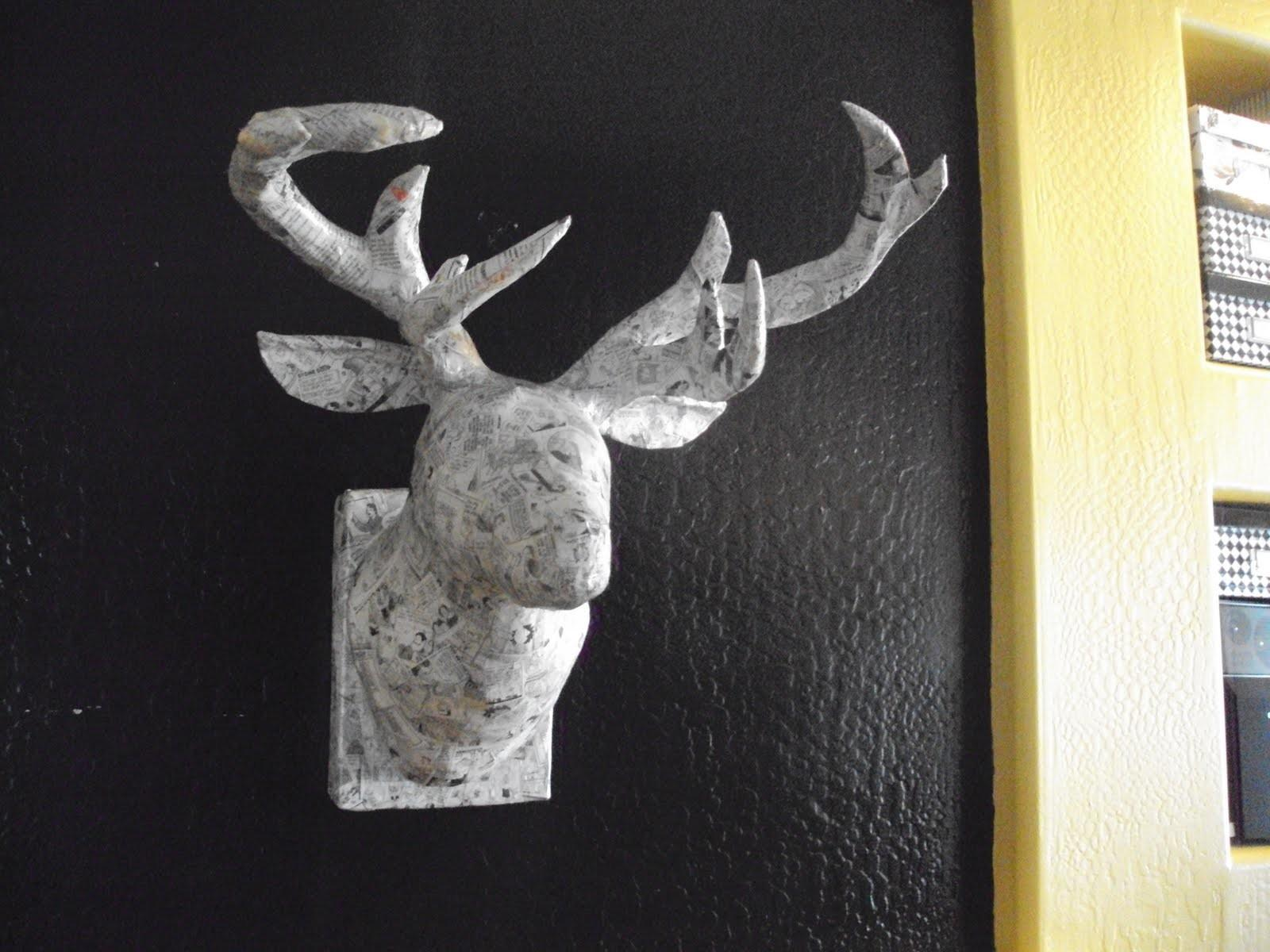Diy Animal Head Wall Mounts Made Paper