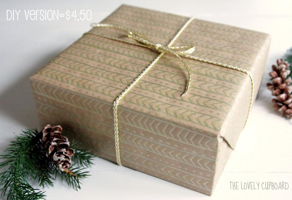 Diy Anthropologie Gold Wrapping Decor Fix