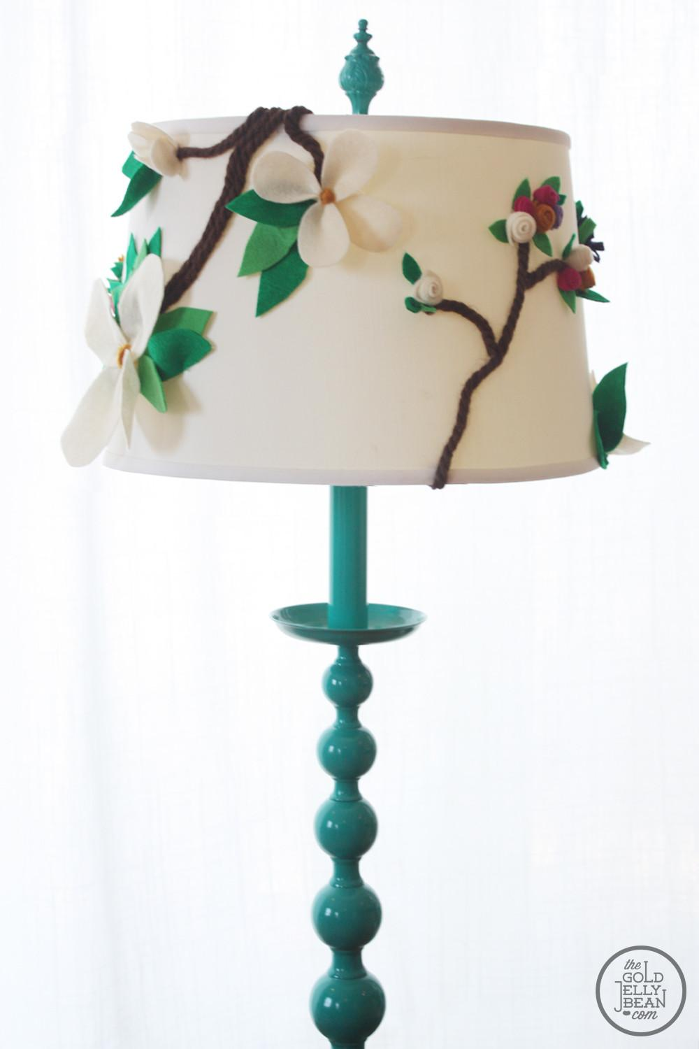Diy Anthropologie Inspired Floral Lamp Shade Gold