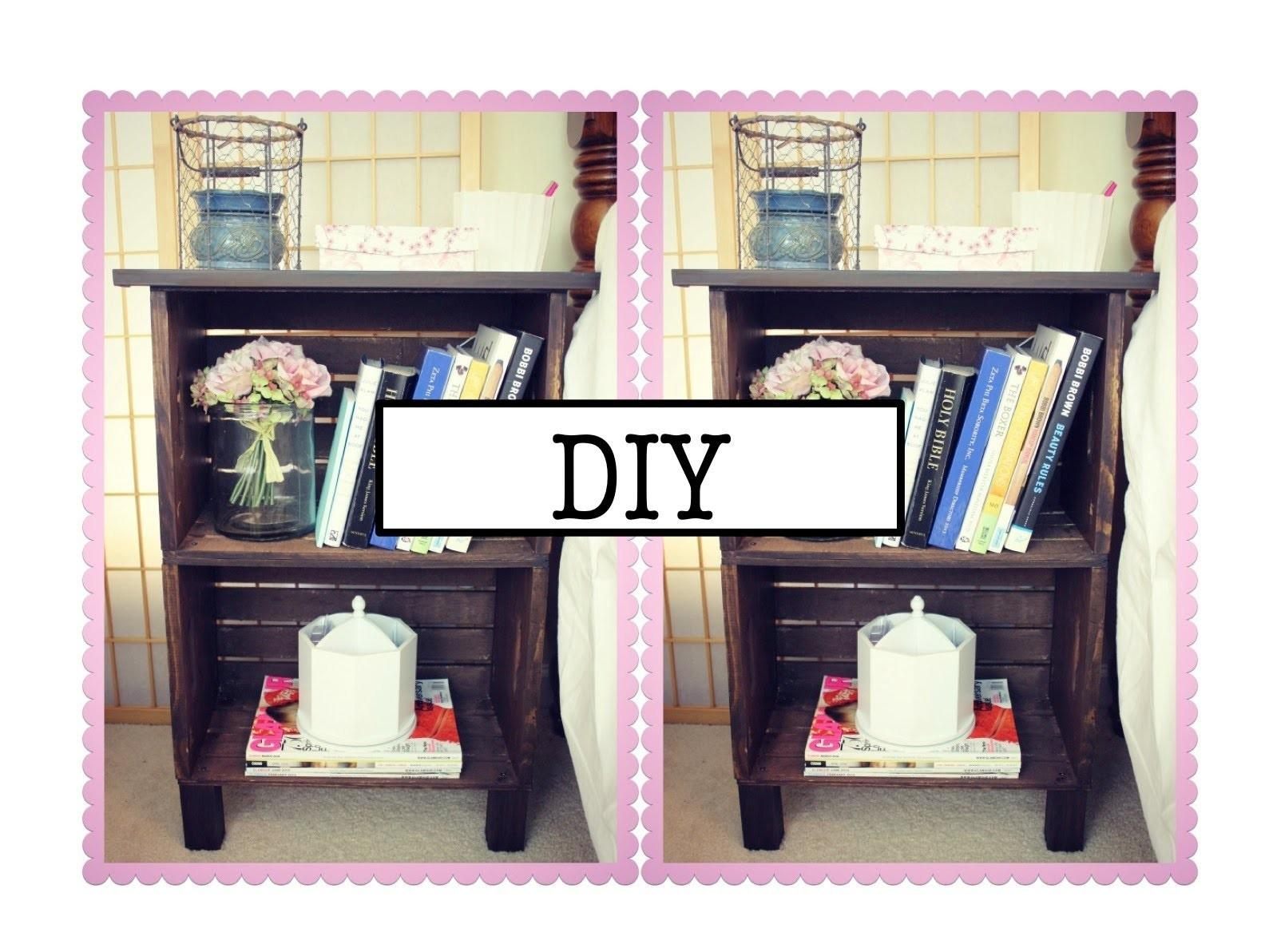 Diy Antique Inspired Nightstand Bookcase
