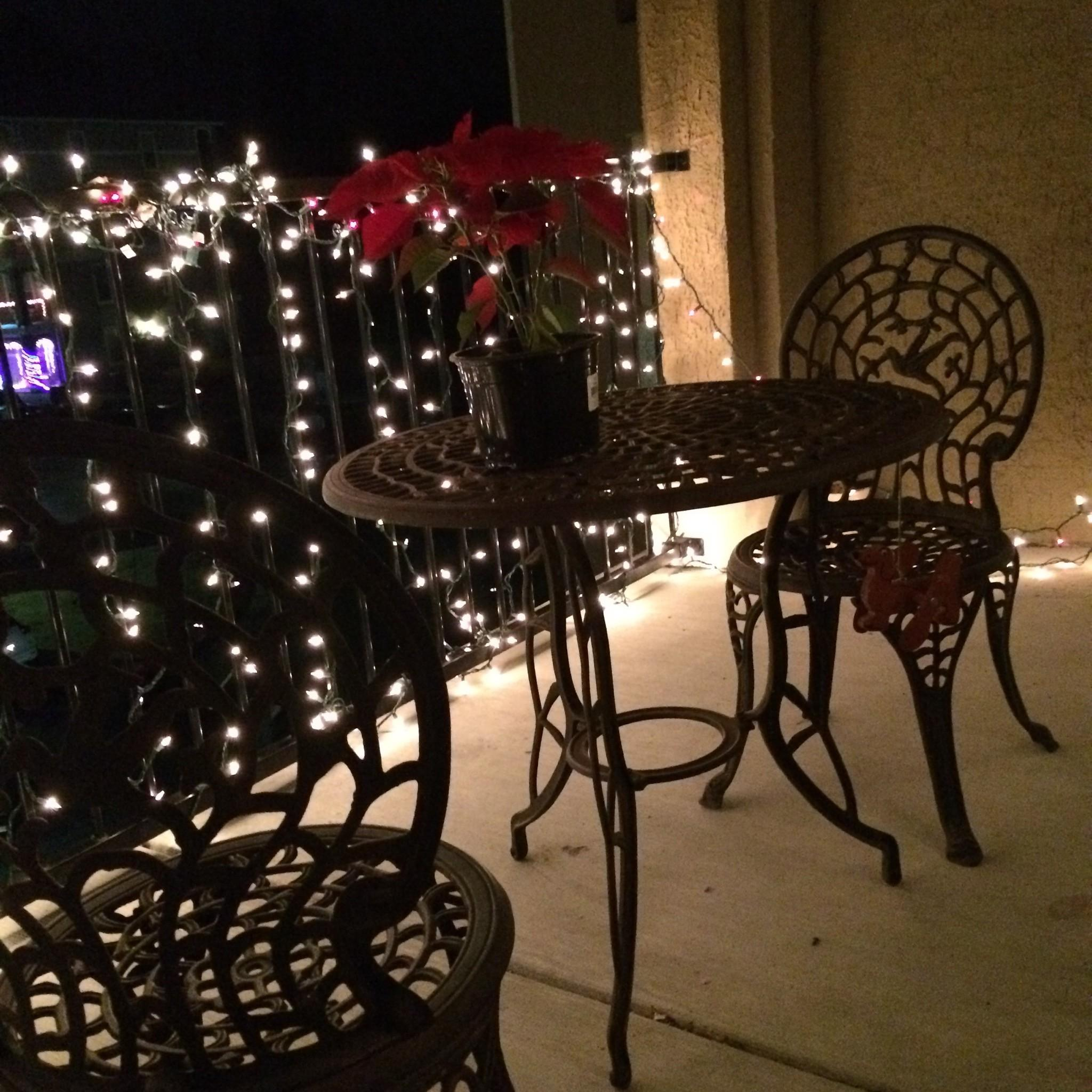 Diy Apartment Patio Lights