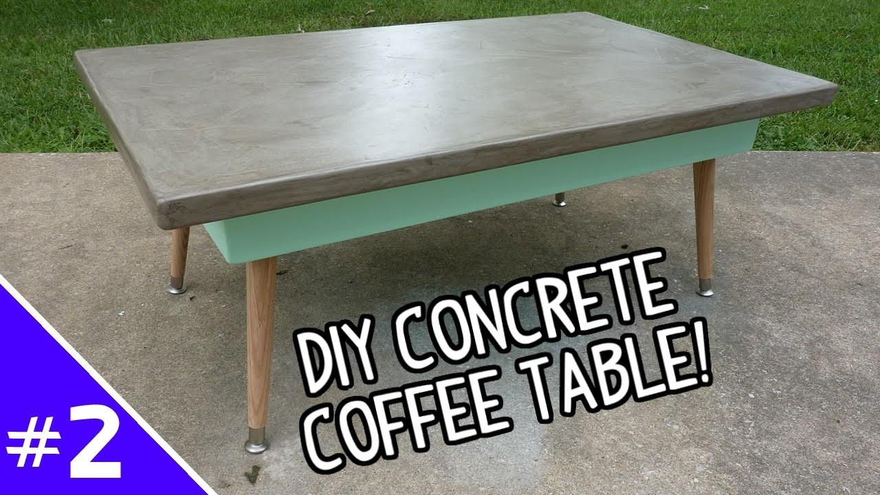 Diy Ardex Concrete Coffee Table Part
