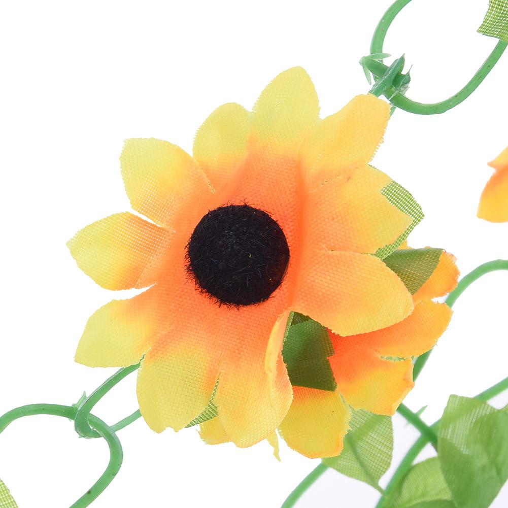 Diy Artificial Sunflower Garland Flower Vine Home