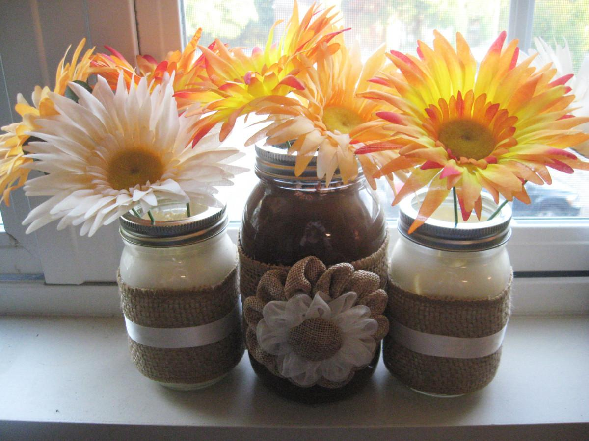 Diy Autumn Inspired Mason Jar Vase Make Something Mondays