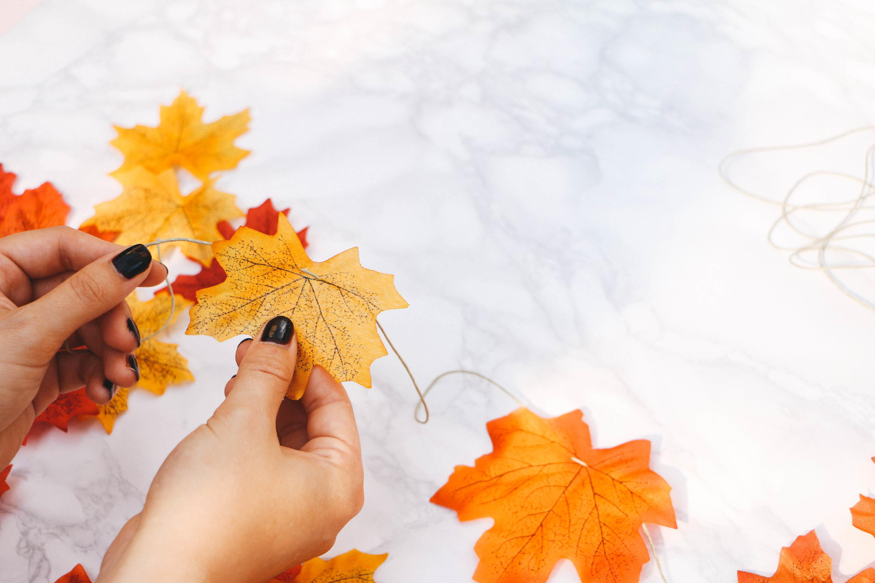 Diy Autumn Leaf Garland