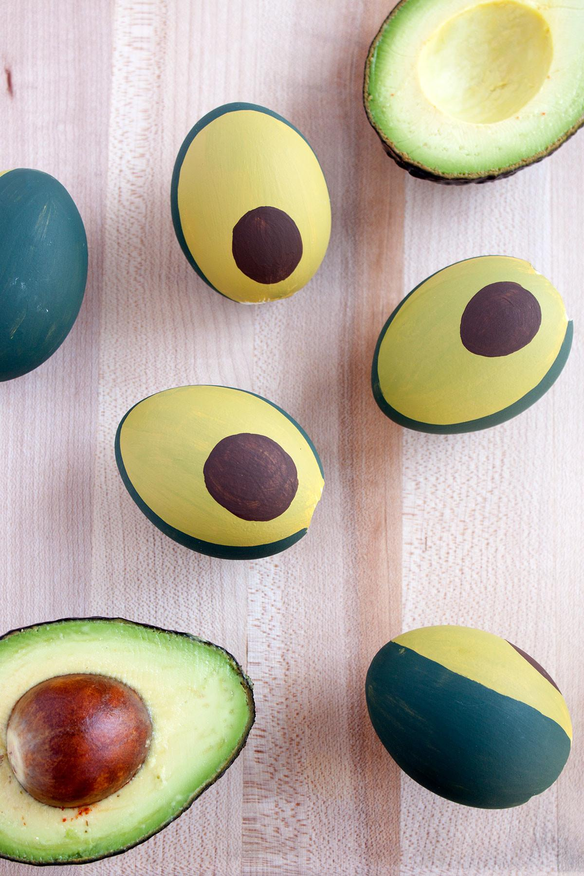 Diy Avocado Easter Eggs Paint Gown Red
