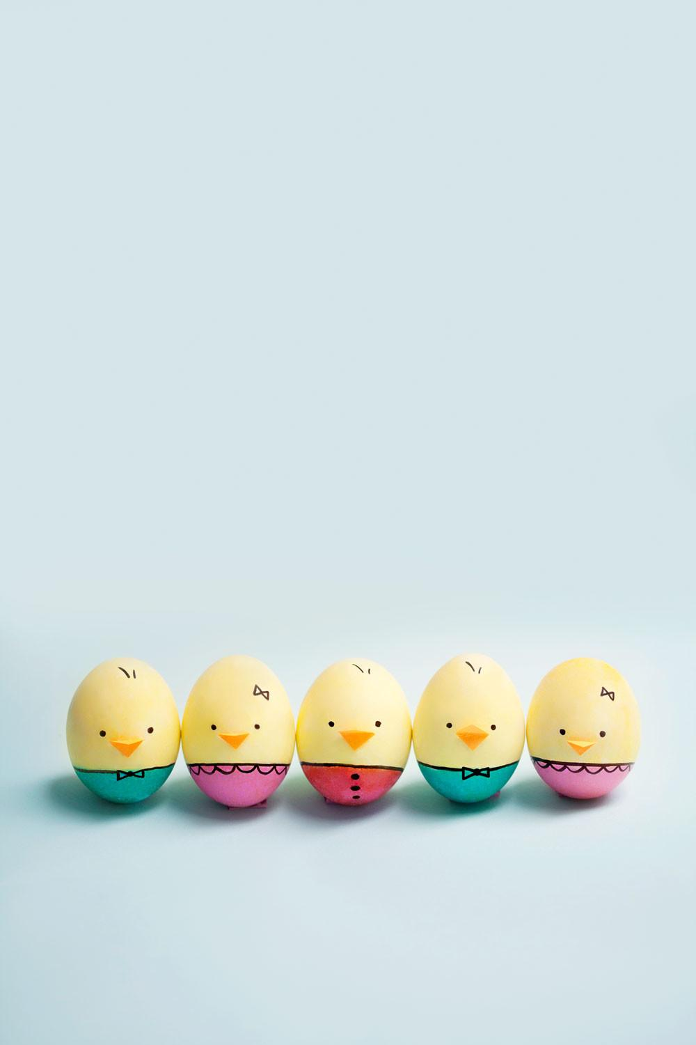 Diy Baby Chick Easter Eggs Tell Love Party