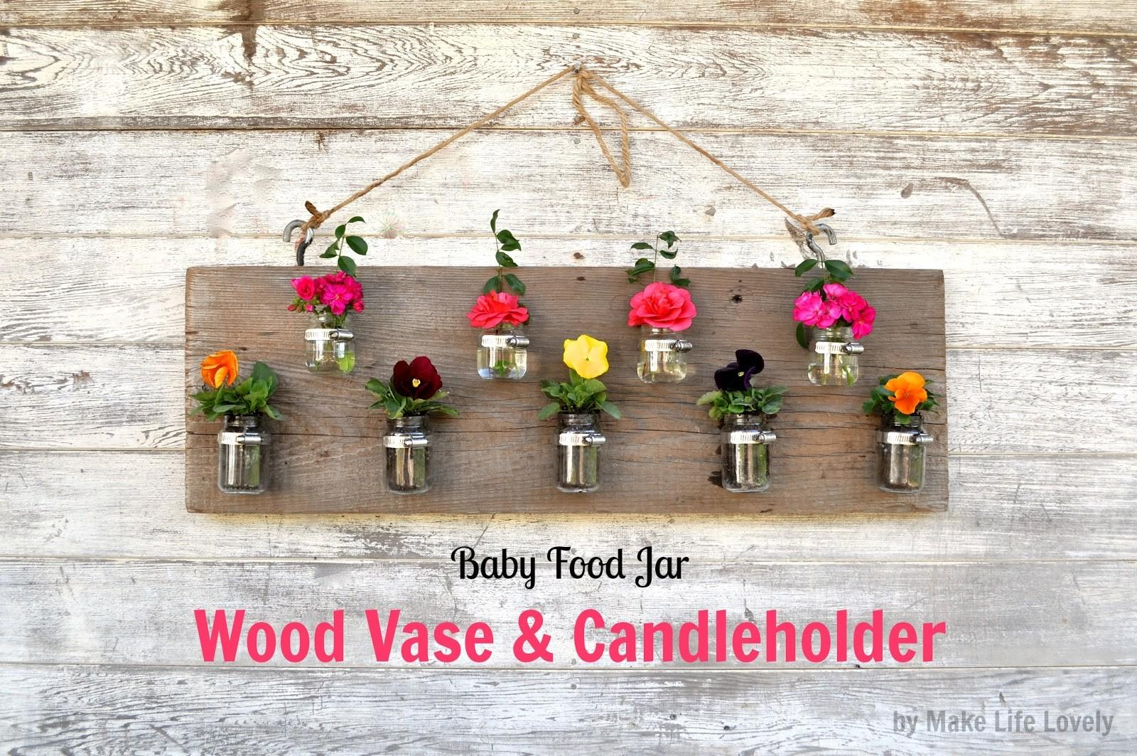 Diy Baby Food Jar Vase Candle Holder Craft Maniac