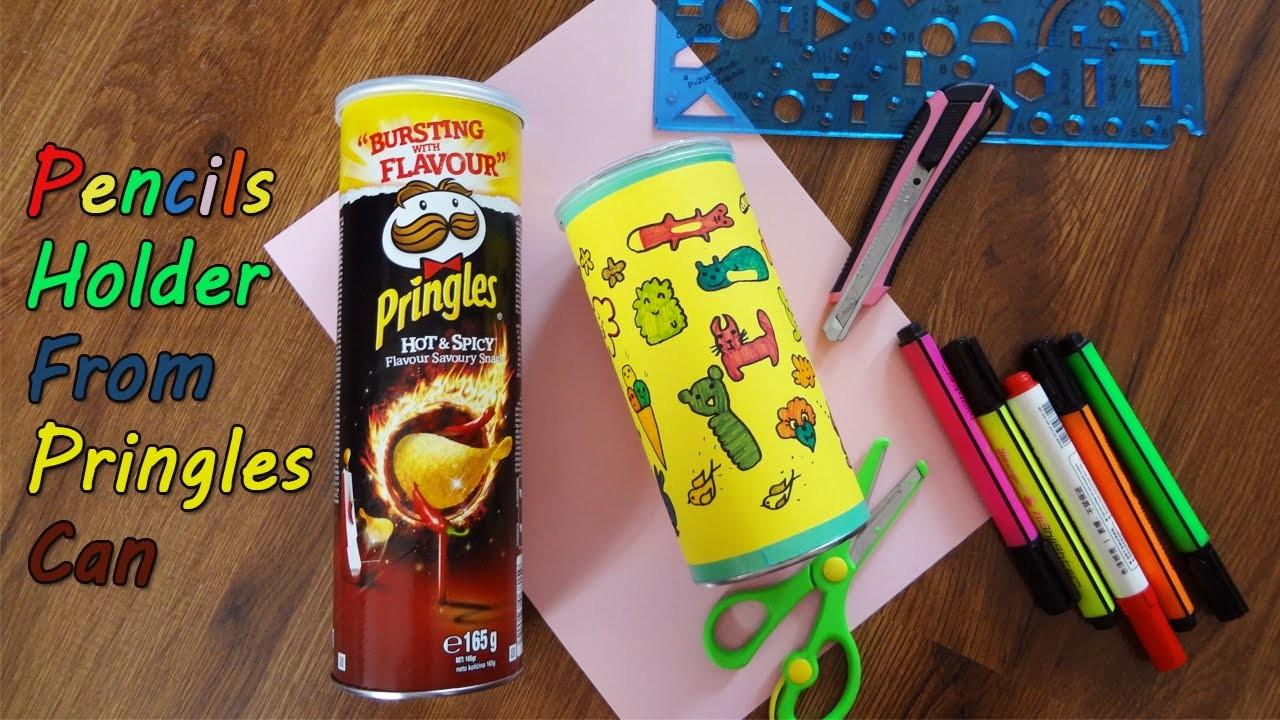Diy Back School Pencils Holder Pringles Can