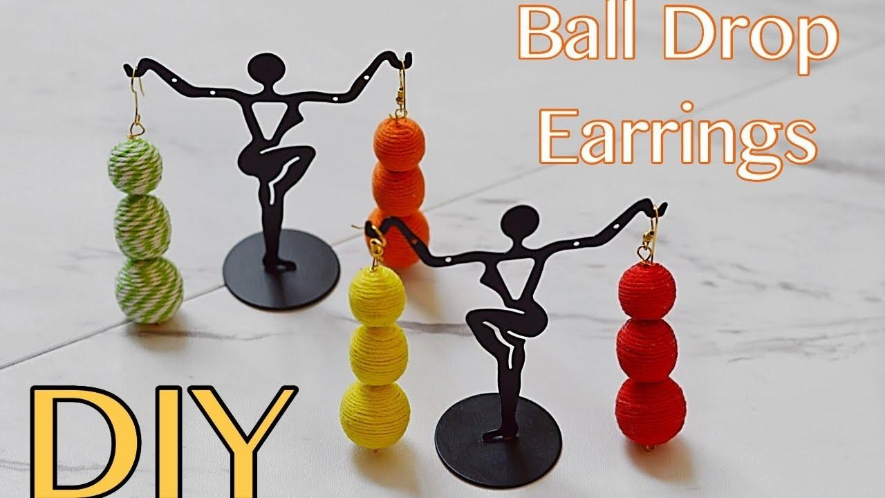 Diy Ball Drop Earrings Crafts Projects