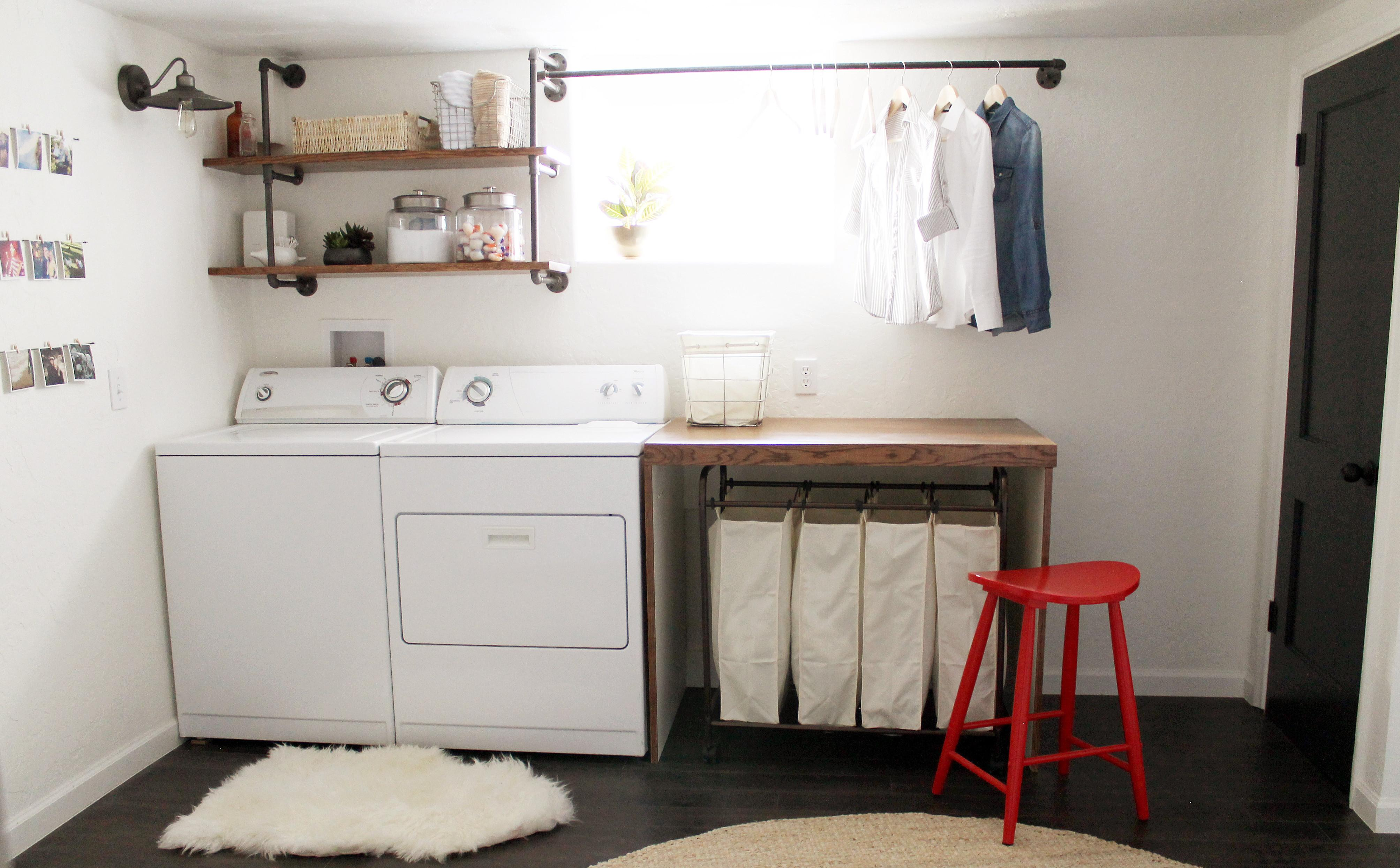 Diy Basement Laundry Room Makeover Small