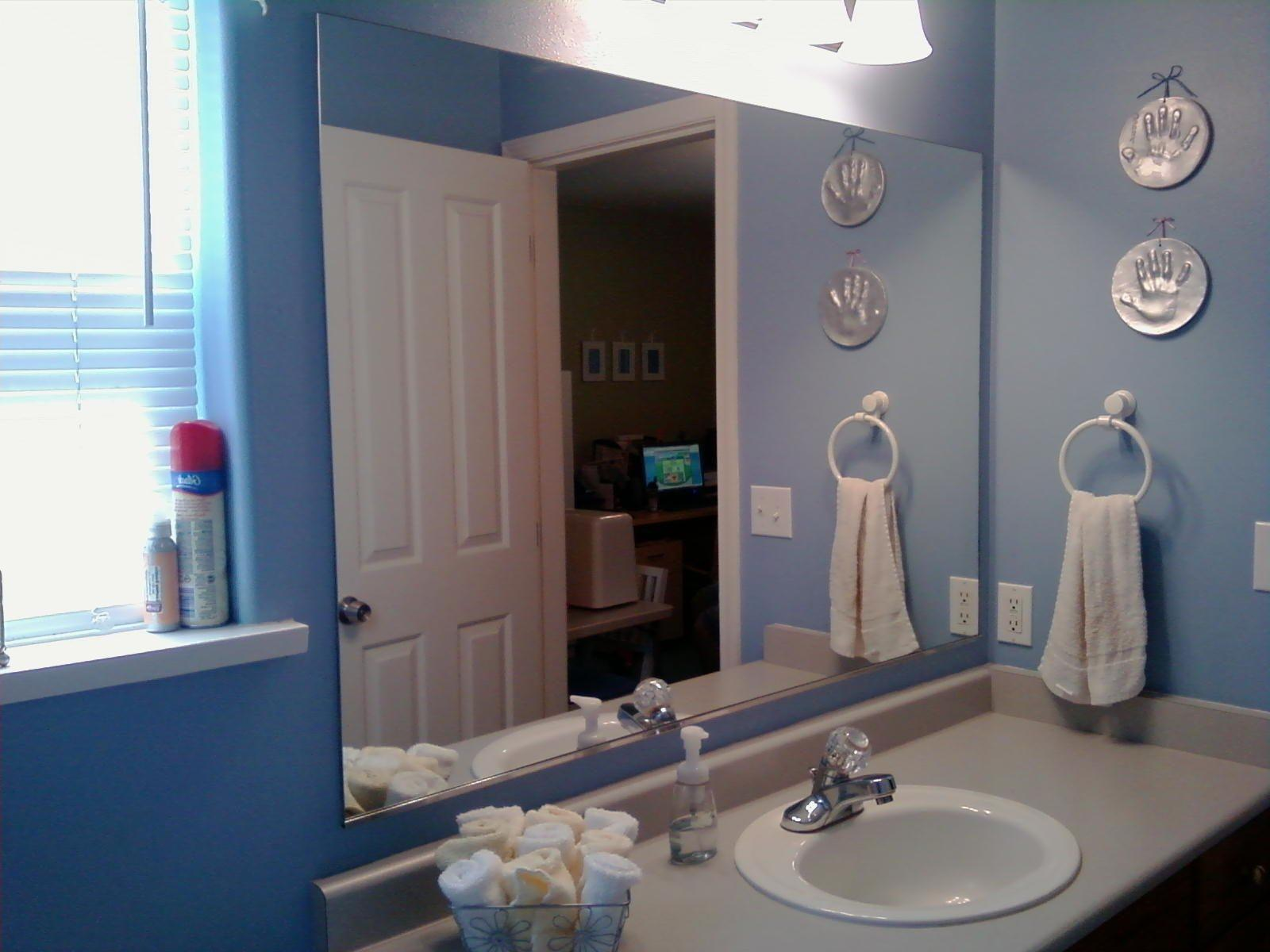 Diy Bathroom Mirror Frame Ideas Glass Three Shelves