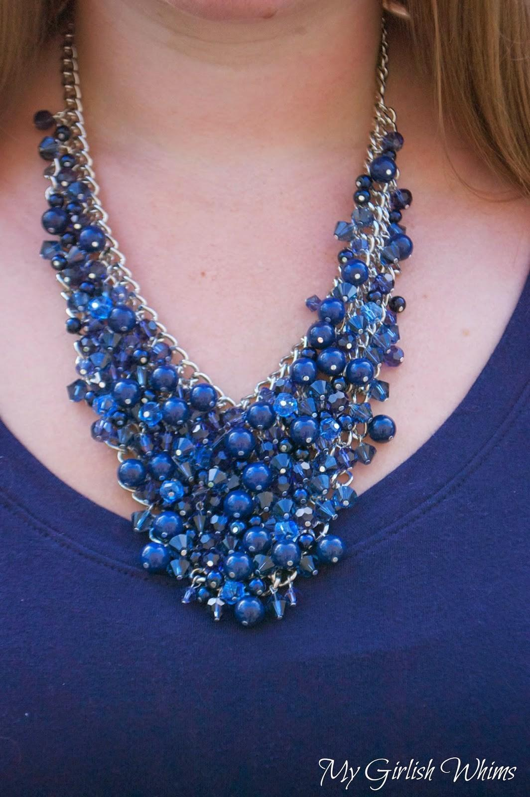 Diy Bead Cluster Web Necklace Girlish Whims