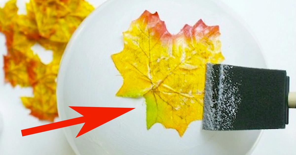 Diy Beautiful Autumn Leaves Bowl Enhance Your Home