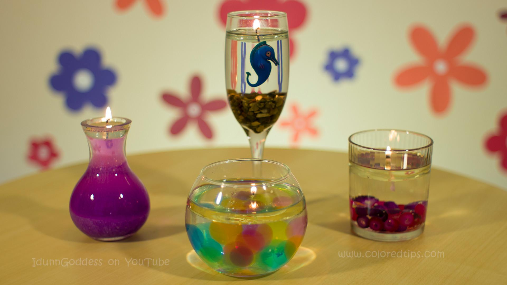 Diy Beautiful Burning Water Candle Summer Ice World