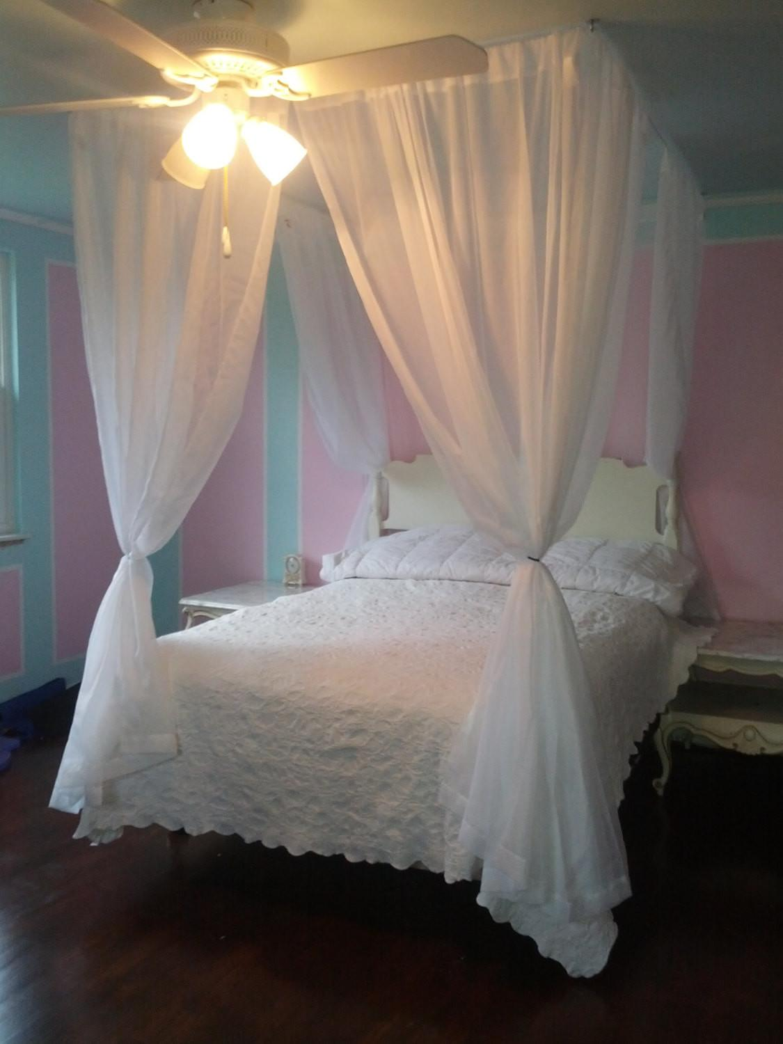 Diy Bed Canopy Kit Custom Shabby Ceiling Suspended Hanging