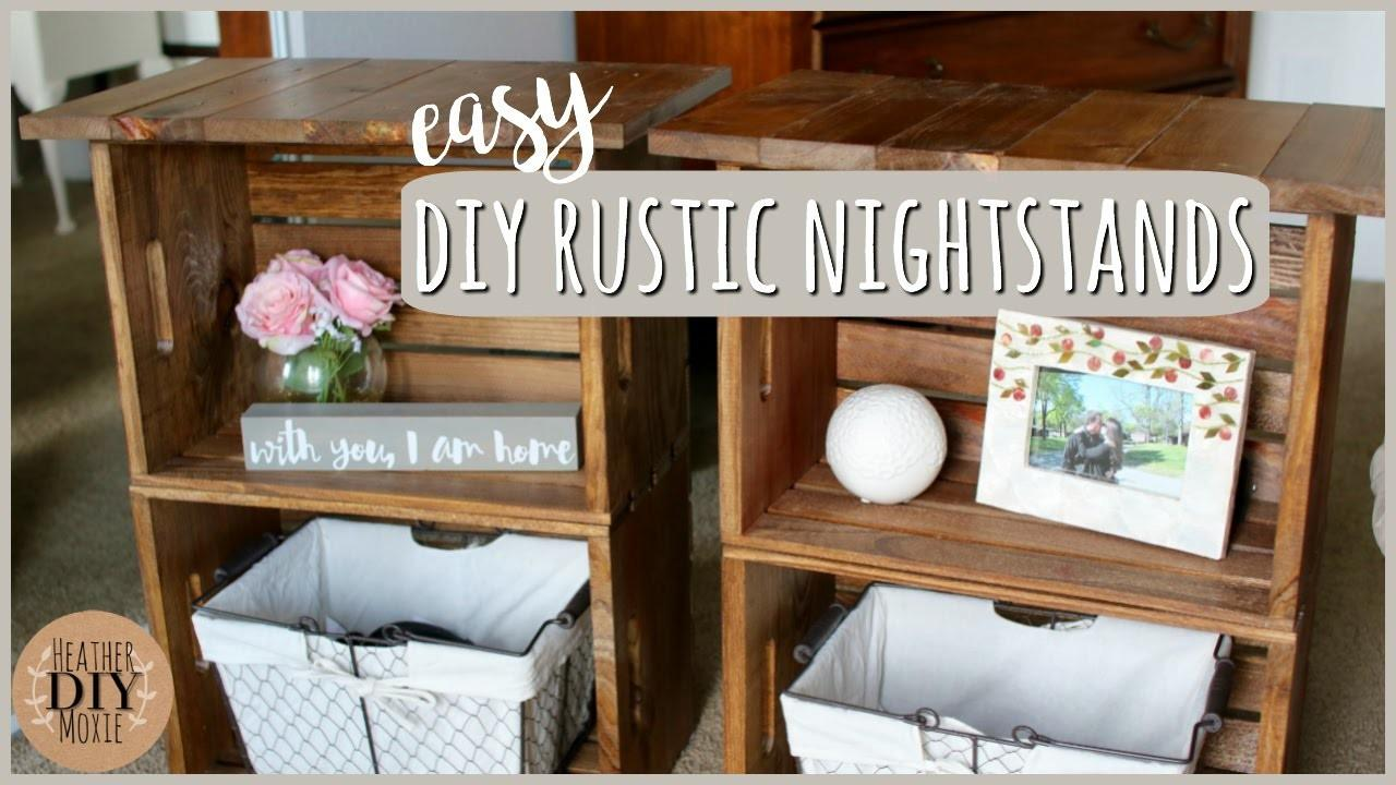 Diy Bedroom Furniture Rustic Nightstands