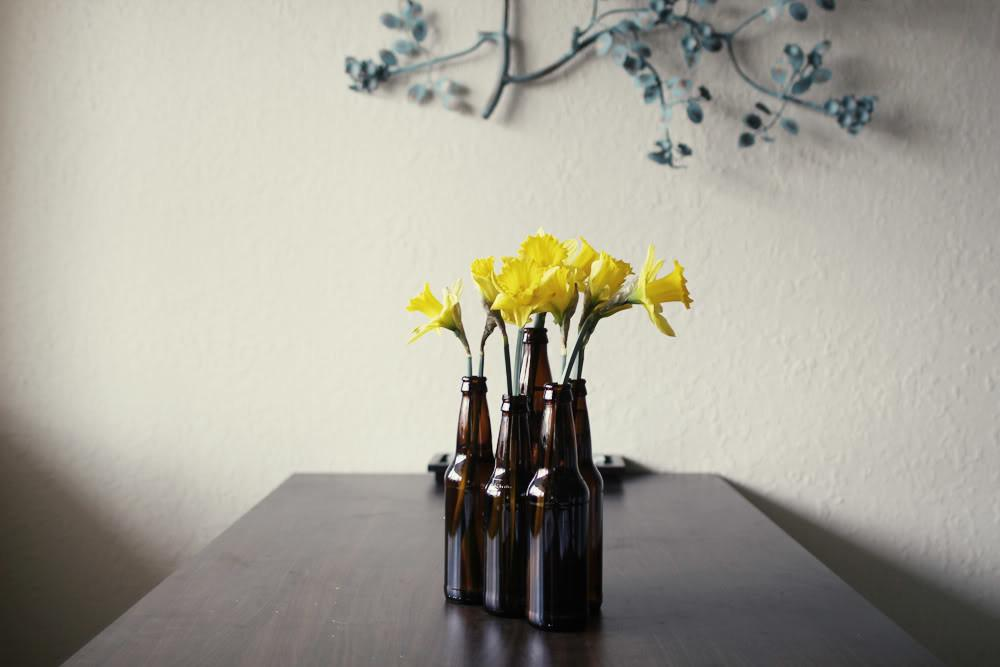 Diy Beer Bottle Vase Delightfully Tacky