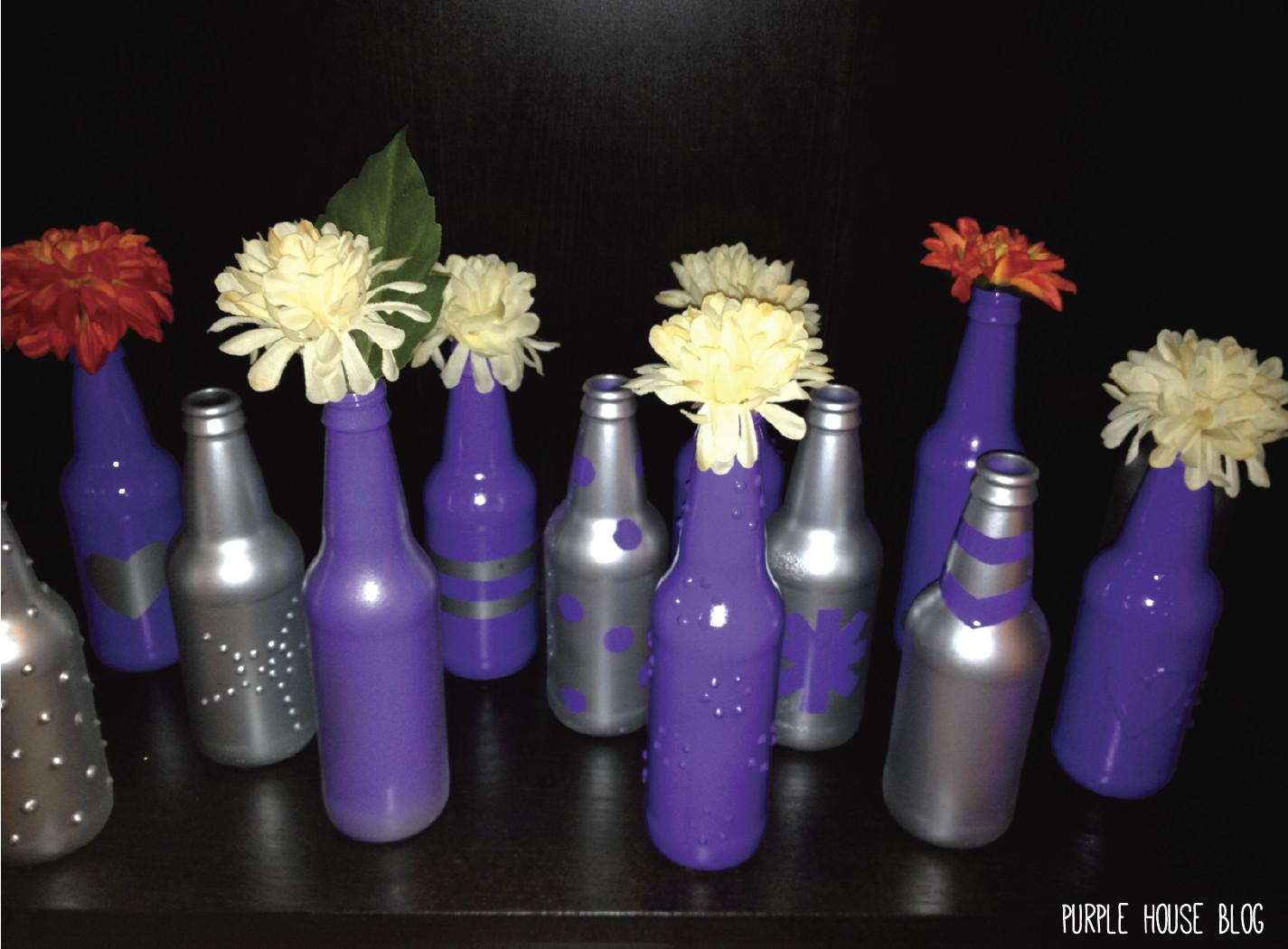 Diy Beer Bottle Vase Purple House Blog