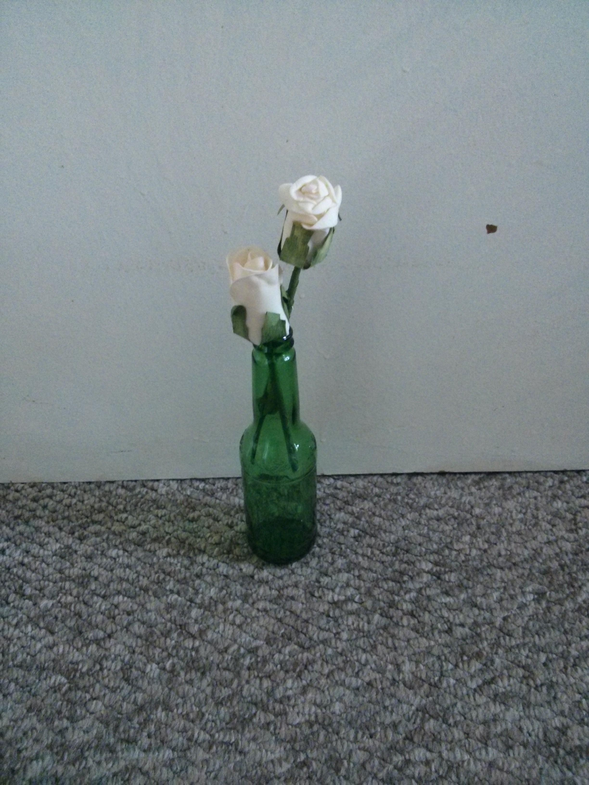 Diy Beer Bottle Vases Big Fat Wedding