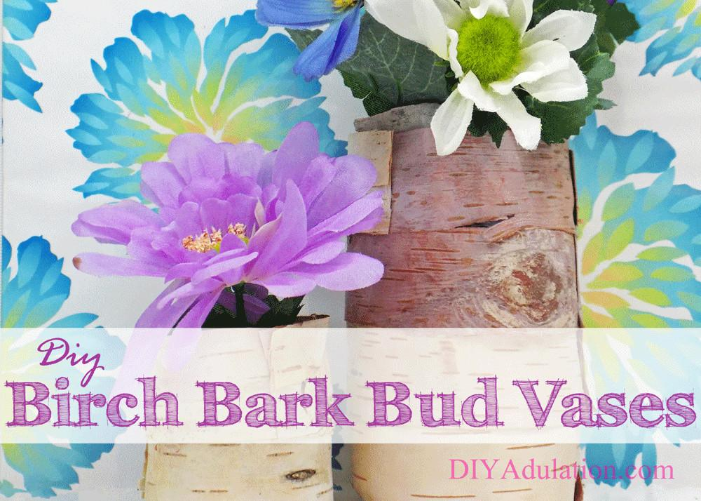 Diy Birch Bark Bud Vases Spring Giveaway Adulation