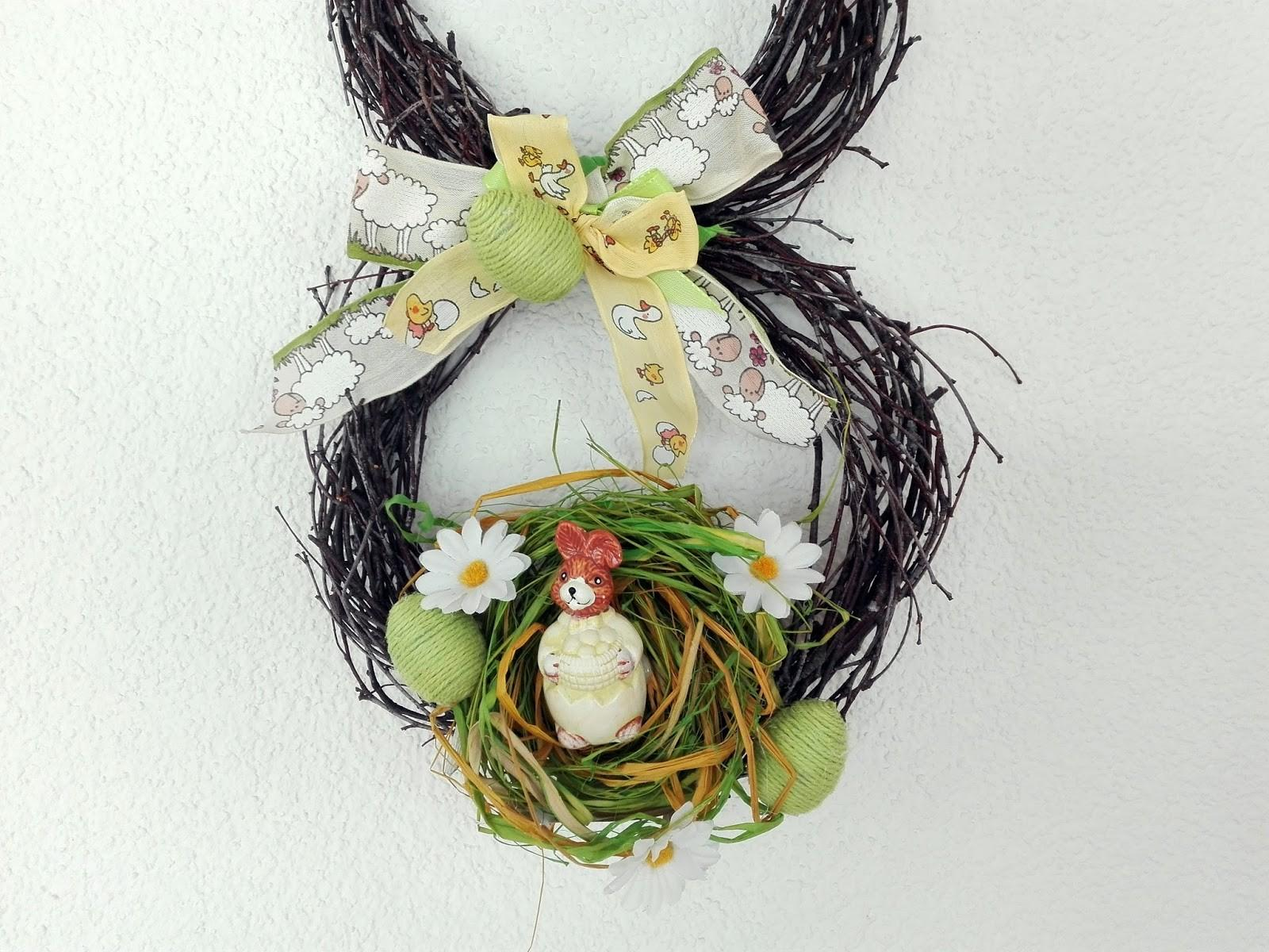 Diy Birch Twig Easter Bunny Wreath Our Swiss Experience
