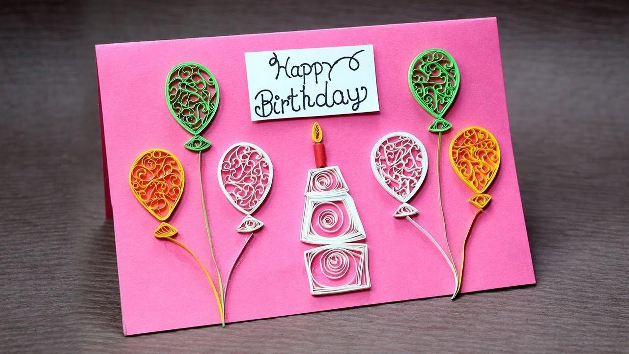 Diy Birthday Card Beginners Very Easy Quilling