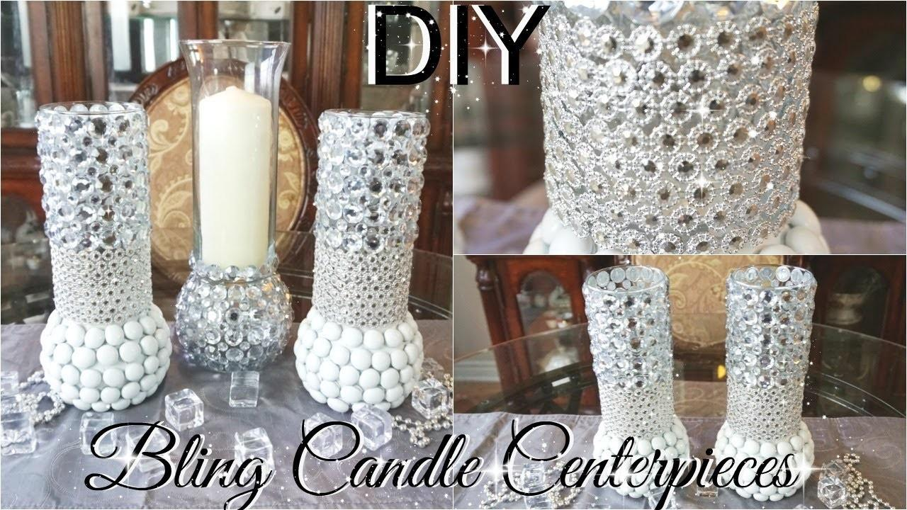 Diy Bling Centerpiece Candle Holders Kingso Diamond