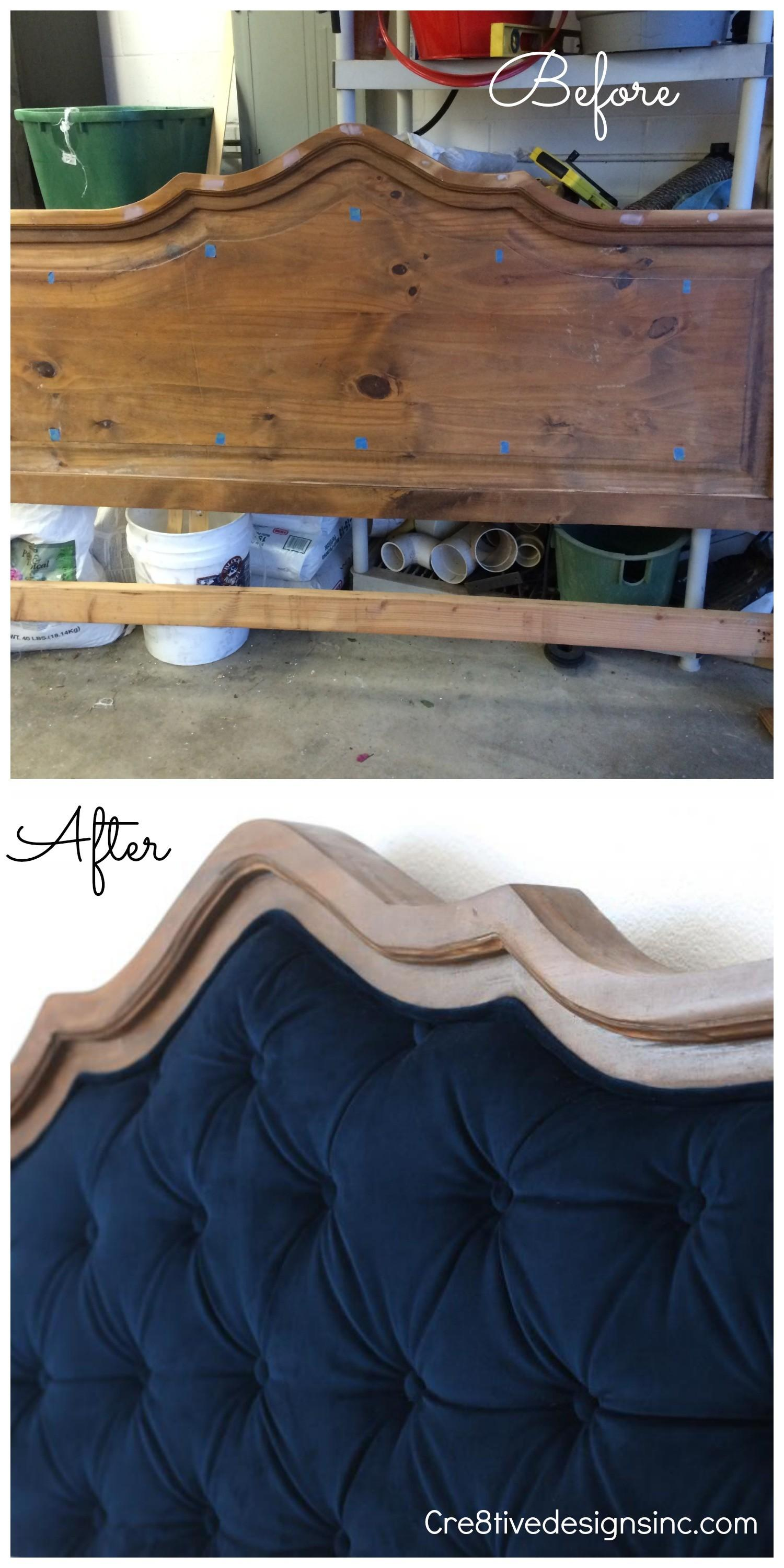 Diy Blue Tufted Headboard Cre8tive Designs Inc